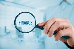 Focused on finances Royalty Free Stock Image