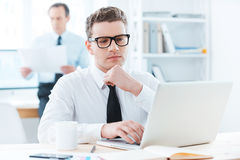 Focused on his work. Royalty Free Stock Photo