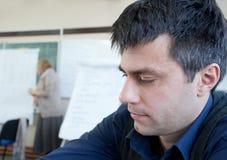 Focused man at workshop Royalty Free Stock Images
