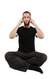 Focused Meditation Stock Images