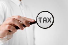 Focused on tax Royalty Free Stock Image