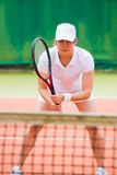 Focused tennis player ready for match Royalty Free Stock Images