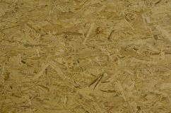 Focused texture of strucured OSB wood plate Royalty Free Stock Image
