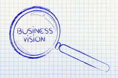 Focusing on business vision and management Stock Photography