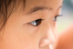 Kid eyes - focusing Stock Photo