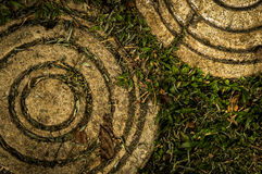 Floor patter in a botanical garden. Photo of floor pattern in a botanical garden Royalty Free Stock Images