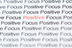 Focusing on positive thoughts Stock Images