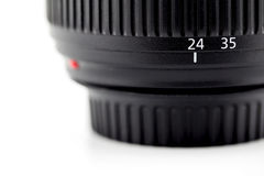 Focusing ring and lens barrel of camera. Royalty Free Stock Images
