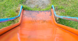 Focusing slider way in playground Stock Photo