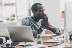 Focusing on work. Stock Images