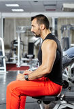 Focusing on the workout Royalty Free Stock Photos