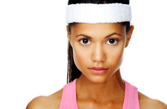 Focussed sport portrait Royalty Free Stock Photos