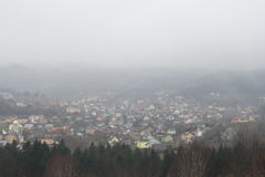 Fod dans la vallée de La plus grande humidité d'air photographie stock libre de droits