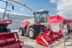 Fodder harvesting RSM 1401 combine Stock Photos