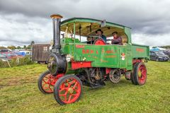 Foden 5 Ton Steam Wagon. A 1923 Foden 5 Ton Steam Wagon designed to carry freight Royalty Free Stock Photos