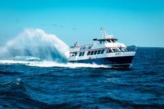 Fodera della barca sul lago Michigan Fotografia Stock Libera da Diritti