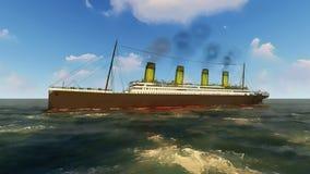 Fodera di passeggero britannica titanica di RMS Fotografia Stock Libera da Diritti