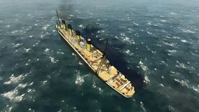 Fodera di passeggero britannica titanica di RMS Immagine Stock Libera da Diritti