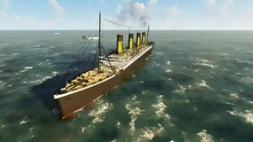 Fodera di passeggero britannica titanica di RMS Fotografie Stock Libere da Diritti