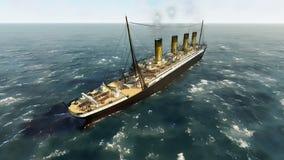 Fodera di passeggero britannica titanica di RMS Immagini Stock