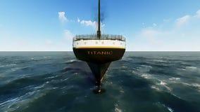 Fodera di passeggero britannica titanica di RMS Fotografia Stock