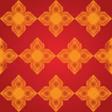 Fodra den thailändska konstvektorn som är konstnärlig av den thai traditionella linjen Royaltyfria Foton