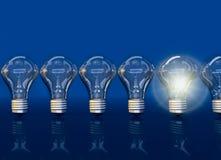 Fodra från sju lampor, sken för en lampa, vektor illustrationer