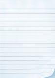 fodrad notepaper arkivbild