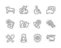 Fodrade medicinska trans.symboler stock illustrationer