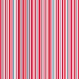 Fodrar bakgrund, röd blå rosa färg, och vit gör randig den sömlösa modellen för vektorn Royaltyfria Bilder