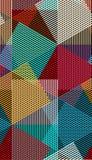 Fodrar den sömlösa moiremodellen för den abstrakta vektorn med kubikgaller Färgrik grafisk prydnad vektor illustrationer