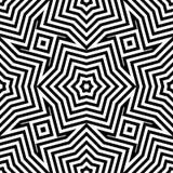 Fodrar den sömlösa moiremodellen för den abstrakta vektorn med den vinkande cirkeln vektor illustrationer