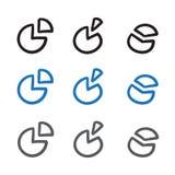 Fodrar den statistiska svart för illustrationen för symbolen för vektorn för diagram för klottret för stänger för det koordinerad Arkivbild