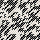 Fodrar den svarta vita diagonalen för vektorn den geometriska sömlösa modellen Royaltyfri Fotografi