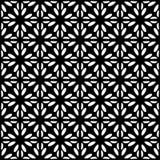 Fodrar sömlös svart för vektorn och den blom- organiska triangeln för whitel den sexhörniga geometriska modellen stock illustrationer
