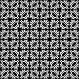 Fodrar sömlös svart för vektorn och den blom- organiska triangeln för whitel den sexhörniga geometriska modellen royaltyfri illustrationer