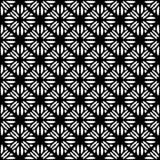 Fodrar sömlös svart för vektorn och den blom- organiska triangeln för whitel den sexhörniga geometriska modellen vektor illustrationer