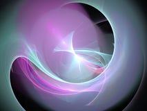 Fodrar vinkar den abstrakta glödande fractalen för lilan med cirkuläret och Royaltyfria Bilder