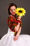 fodsolnuhom κορίτσι ρωσικά Στοκ φωτογραφία με δικαίωμα ελεύθερης χρήσης