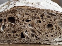 Malt rye bread. Foeground of malt rye bread Stock Images