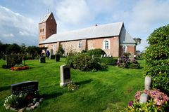 Church on Foehr Island. Foehr or Föhr is one of the North Frisian Islands on the German North Sea coast. It is located in the federal state of Schleswig Royalty Free Stock Image