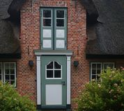 Thatched-roof House on Foehr Island. Foehr or Föhr is one of the North Frisian Islands on the German North Sea coast. It is located in the federal state of Stock Photo
