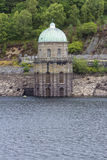 Foel Tower, water intake in the Garreg-ddu Reservoir. Royalty Free Stock Images