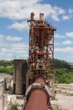 Fogão abandonado da mina da dolomite fotos de stock royalty free