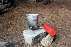 Fogão de acampamento Imagem de Stock Royalty Free