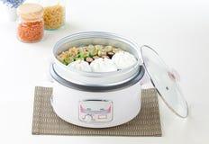 Fogão de arroz elétrico fotografia de stock