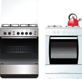 Fogão de cozinha diferente Imagem de Stock