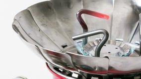 Fogão de gás video estoque