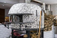 Fogão italiano da pizza fotografia de stock