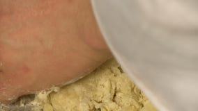 Fogão que agita a massa para o vídeo da sobremesa filme
